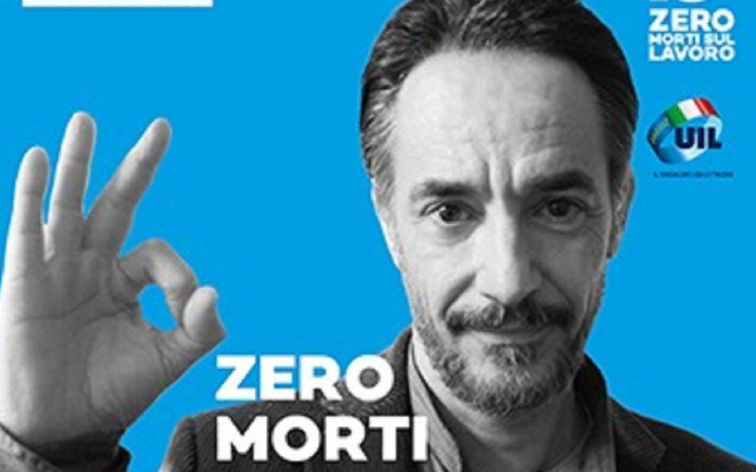 Peppino Mazzotta testimonial della campagna della Uil #ZeroMortiSulLavoro