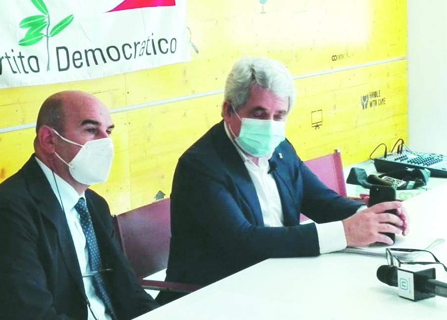 Roberto Cifarelli e Gianni Dal Moro ieri a Potenza