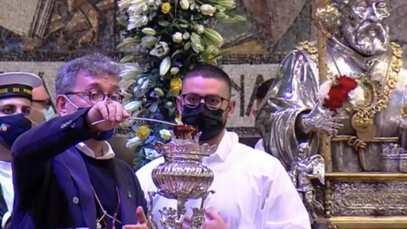 Accesa la lampada votiva per San Francesco. Spirlì: «Conduca la Calabria fuori dalla tempesta»