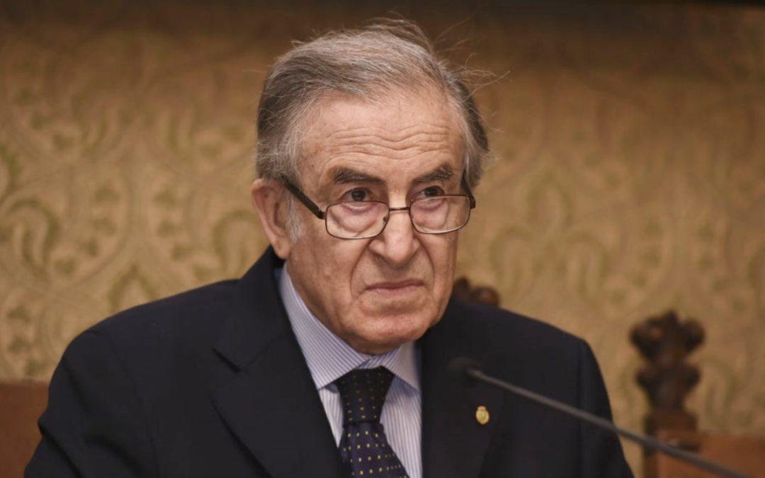 Alberto Quadrio Curzio, professore emerito di Economia dell'Università Cattolica e presidente emerito dell'Accademia dei Lincei
