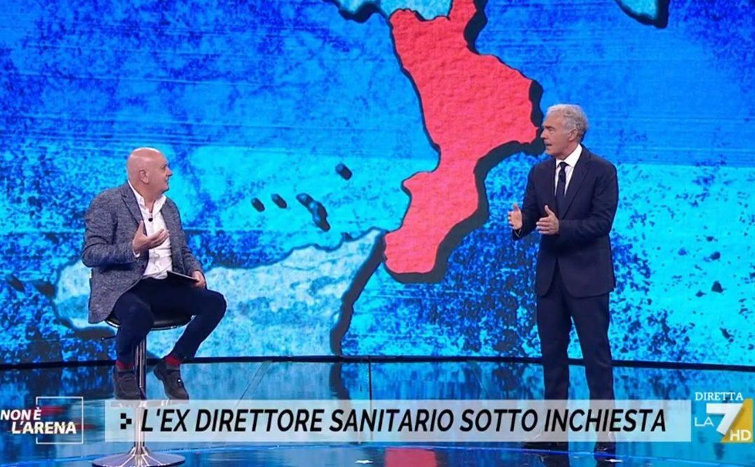 L'ex direttore sanitario Vincenzo Cesareo nel programma di Giletti