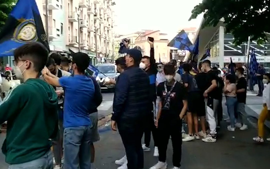 Tifosi interisti in festa a Cosenza