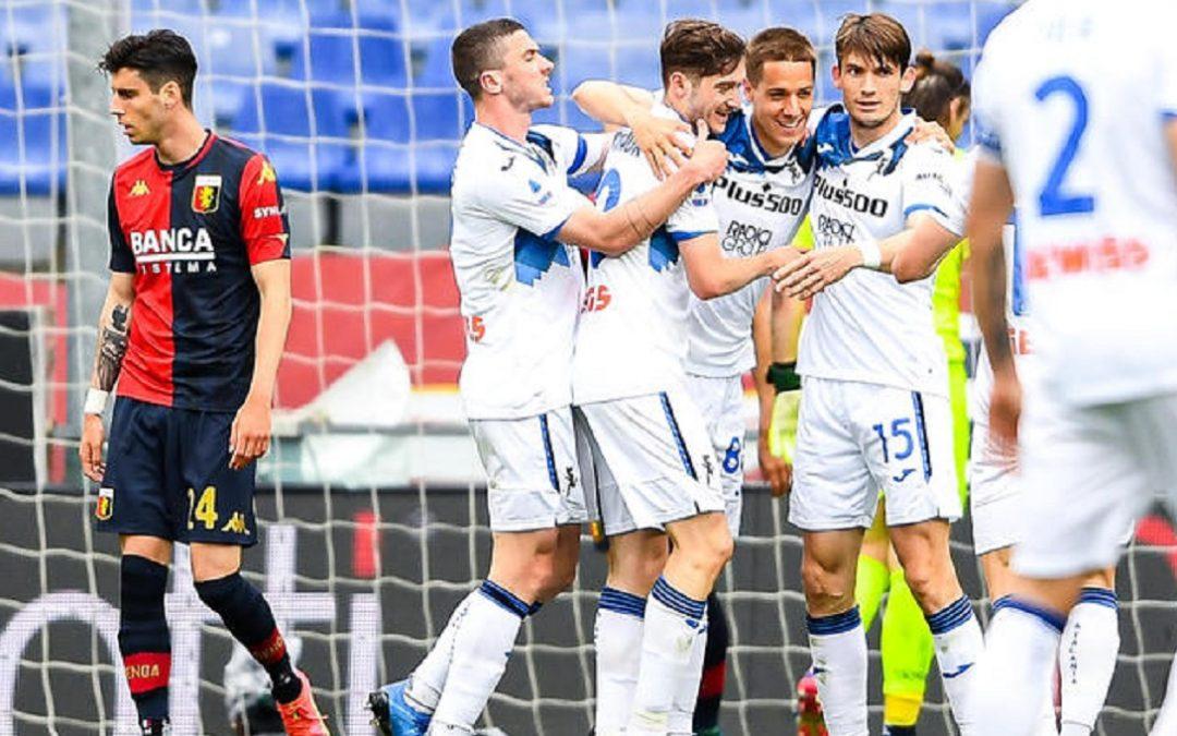 L'esultanza degli uomini di Gasperini dopo il gol di Mario Pasalic