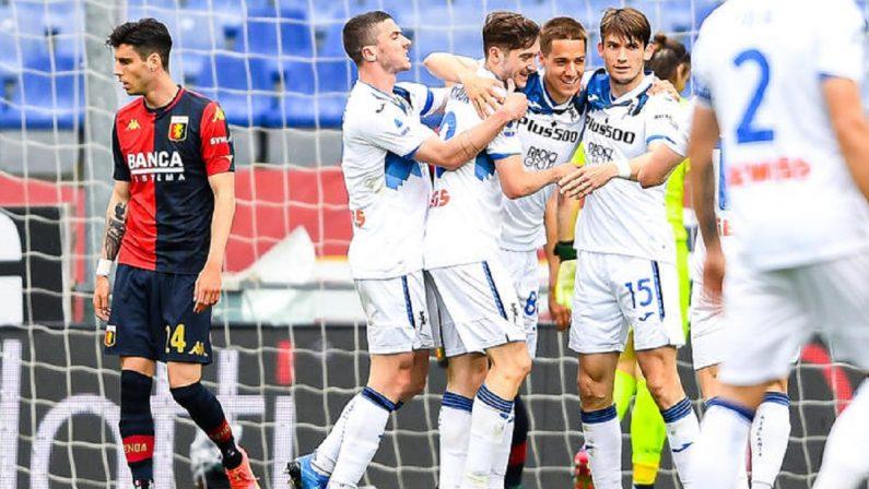 Serie A: l'Atalanta passa a Genova, bergamaschi in Champions per il terzo anno consecutivo
