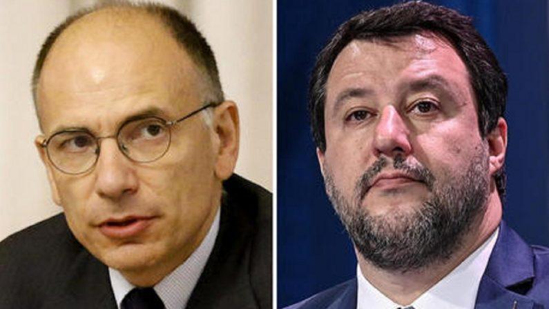 Salvini gigioneggia col pantografo Letta insegue e aspetta la resa finale