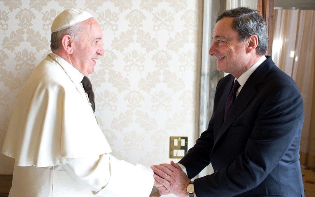Papa Francesco e il premier Mario Draghi