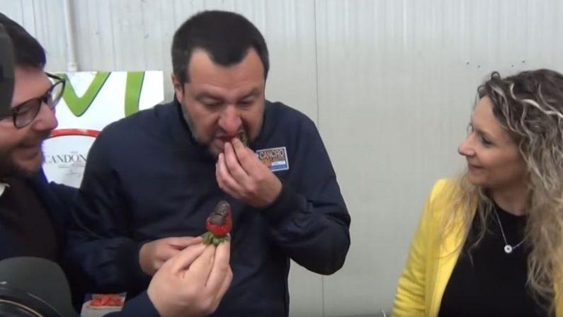 Quando inconsapevolmente il ministro Salvini testimoniò la vicinanza dello Stato all'azienda-lavatrice dei clan