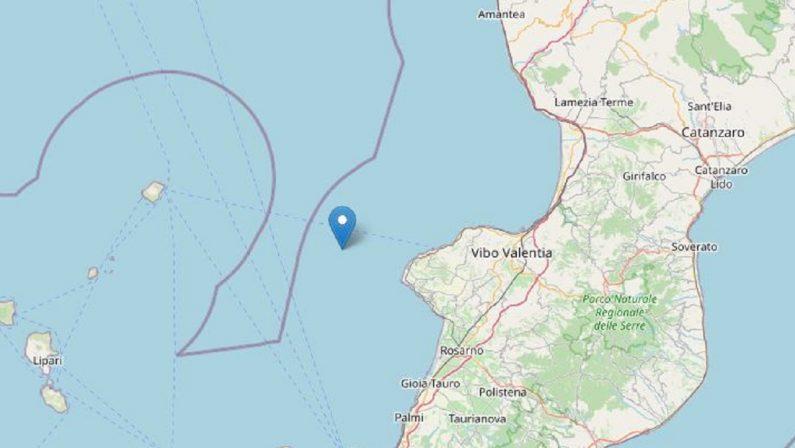 Terremoto di magnitudo 3.2 al largo di Tropea