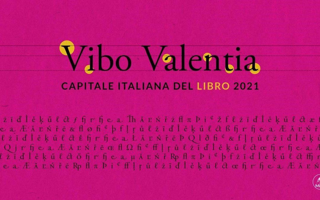 Il logo ufficiale di Vibo Valentia Capitale del Libro 2021