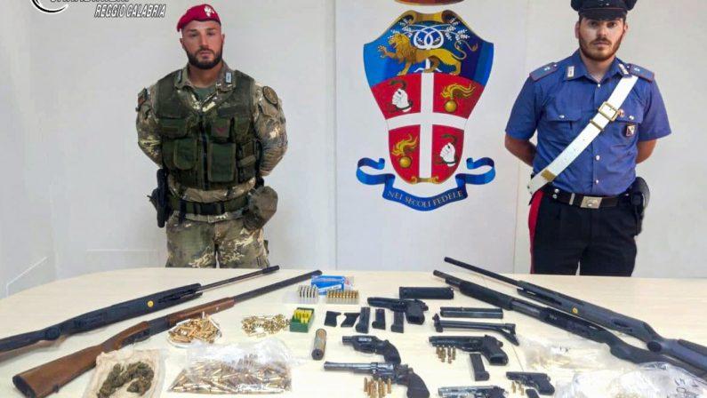 Scoperto un vero e proprio arsenale dai carabinieri a Gioia Tauro, arrestate due persone