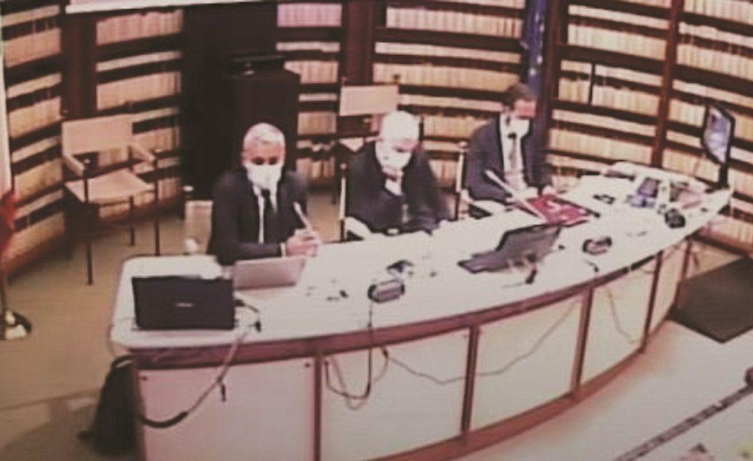 Francesco Curcio (a sinistra) ieri a Roma in audizione affianco al presidente della commissione antimafia Nicola Morra