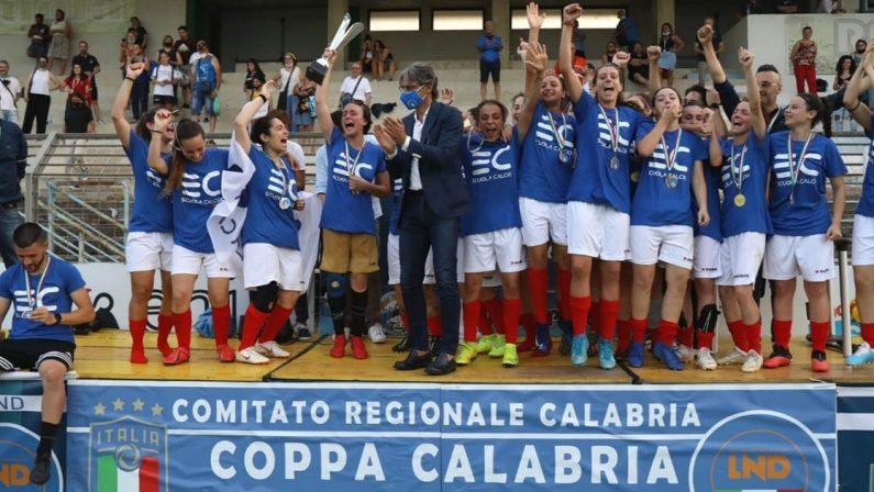 Calcio Femminile, l'Eugenio Coscarello si aggiudica la Coppa Calabria