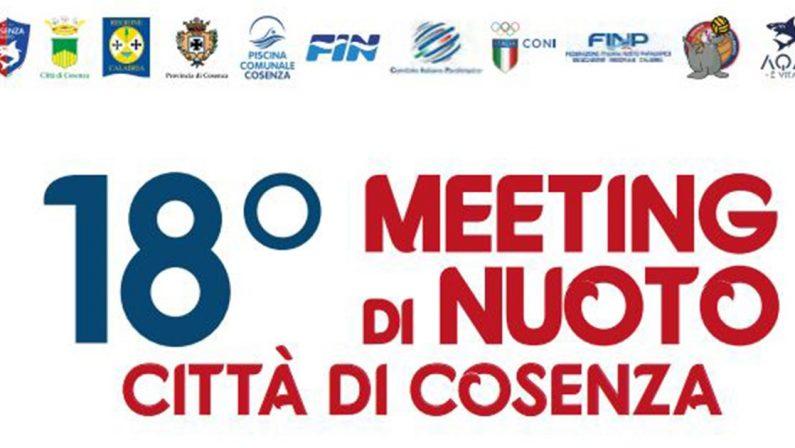 """Tre giorni dedicati al nuoto, al via il """"Meeting Città di Cosenza"""""""