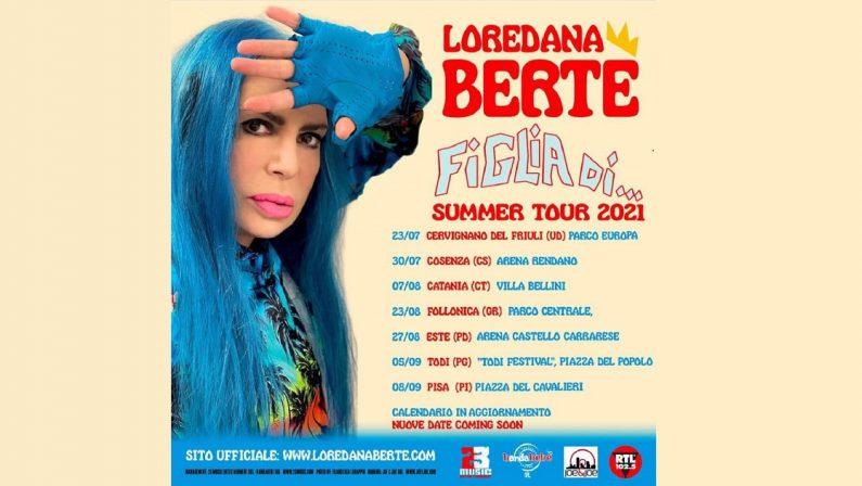 Da Cosenza la ripartenza del tour di Loredana Bertè