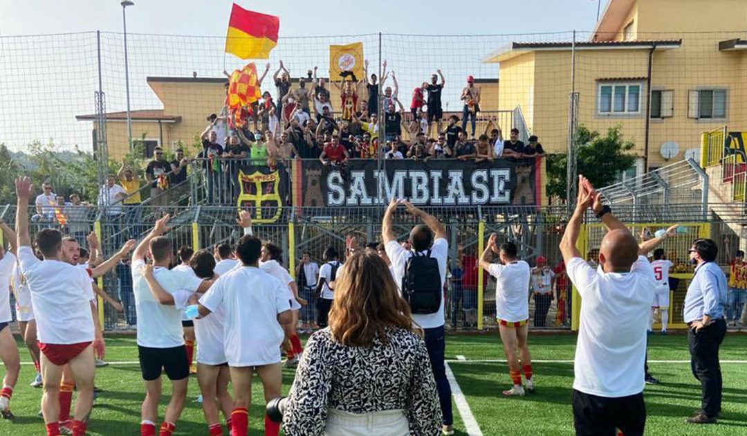 La tifoseria del Sambiase in festa per la promozione in Serie D