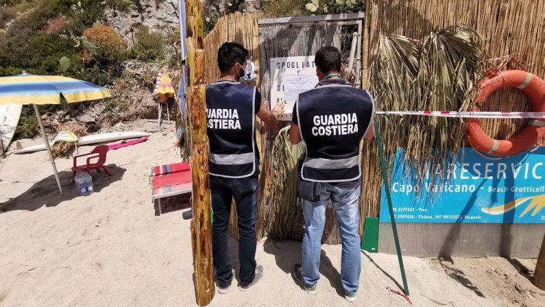 Sequestrata una struttura in legno abusiva sulla costa di Ricadi