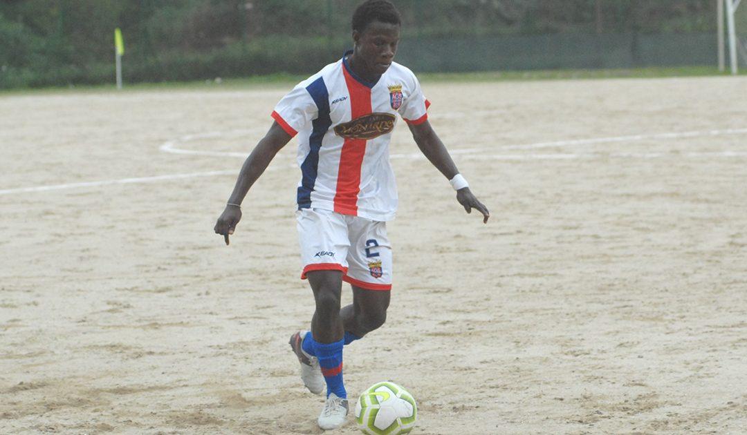 Serge Traorè giovane calciatore del Soriano, formazione di Eccellenza