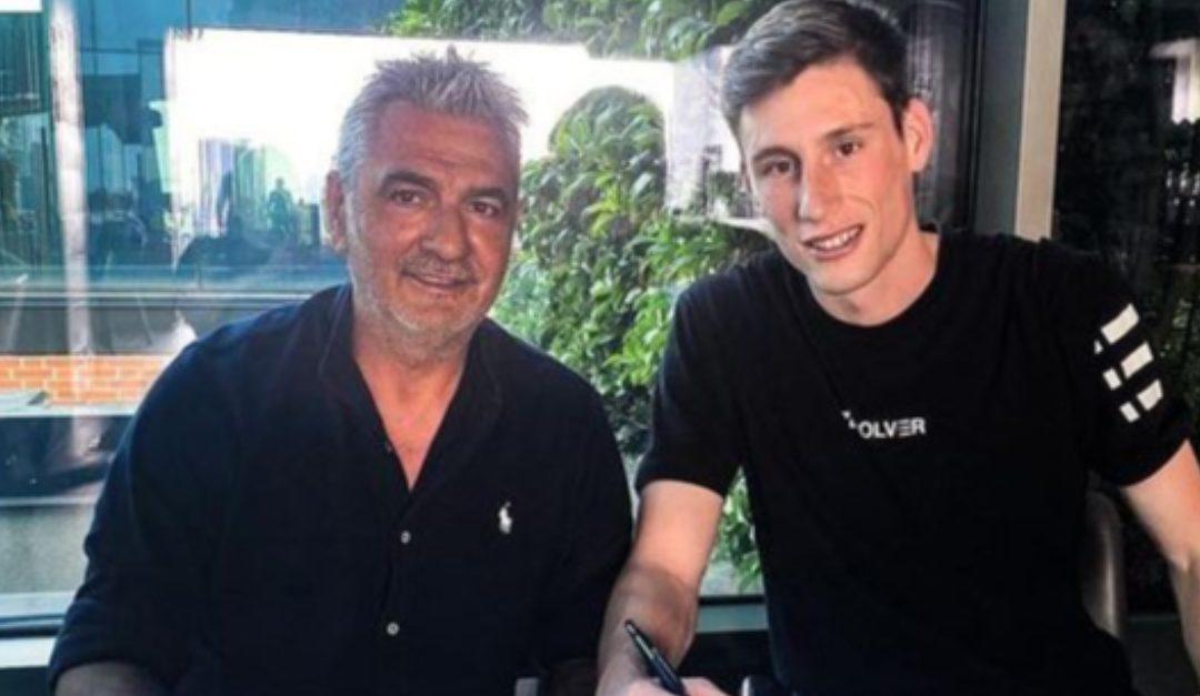 Il presidente Gianni Vrenna con Davide Mondonico