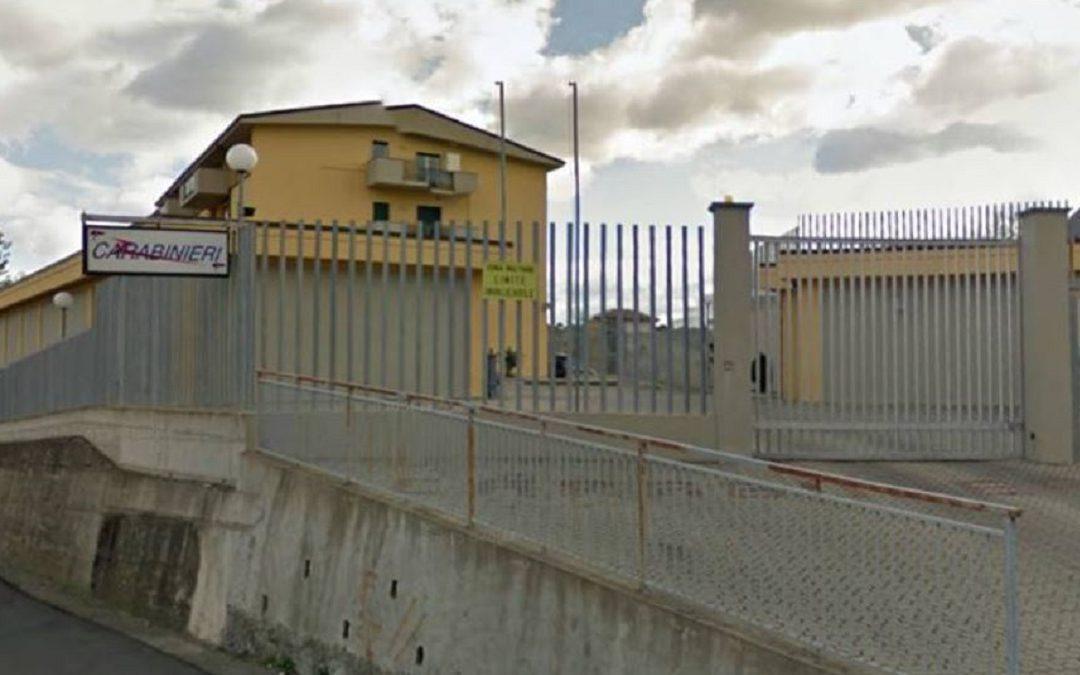 La caserma dei carabinieri di Cassano allo Ionio