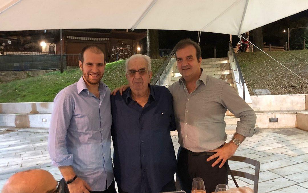 Mario Occhiuto con il padre Giovanni e il figlio omonimo