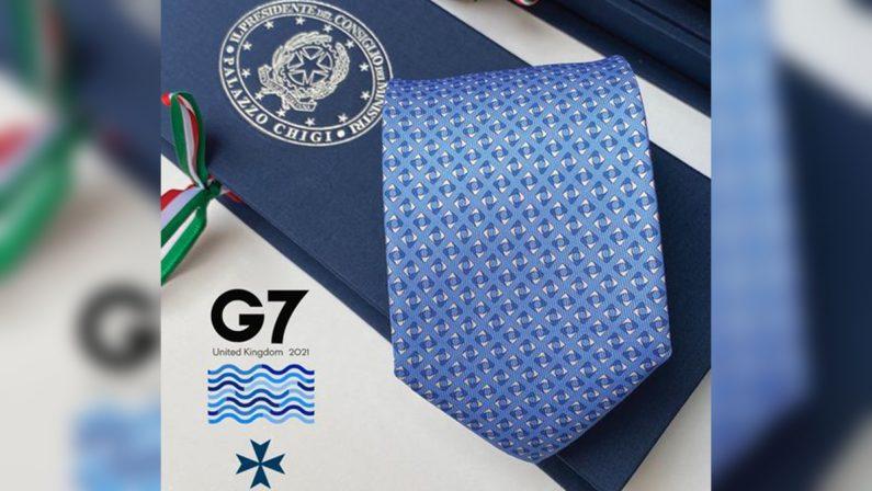 G7, Draghi regala acapi di Stato e di governo le cravatte e i foulard calabresi di Talarico