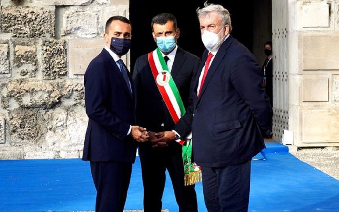 Luigi Di Maio, Antonio Decaro e Michele Emiliano