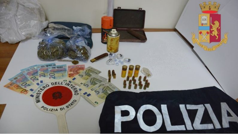 Droga e munizioni nascoste in casa, arrestato 23enne di Piscopio
