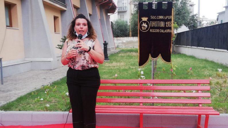 A Reggio una panchina rossa per Maria Antonietta Rositani, la donna bruciata dall'ex marito