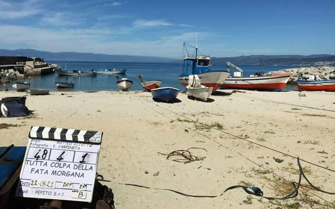 Le riprese sulla spiaggia di Briatico