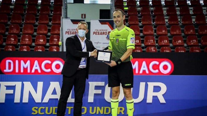 Calcio a 5, l'arbitro calabrese Salvatore Freccia dirige la finale Scudetto Under 19