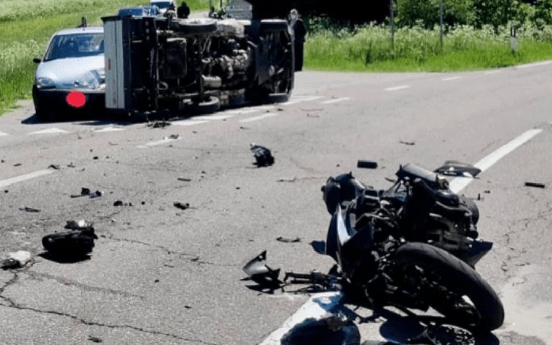 I mezzi coinvolti nell'incidente