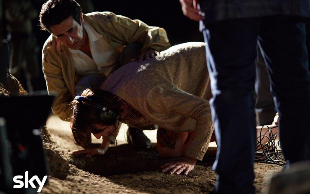 Una scena tratta dalla miniserie Sky Vermicino, una tragedia italiana