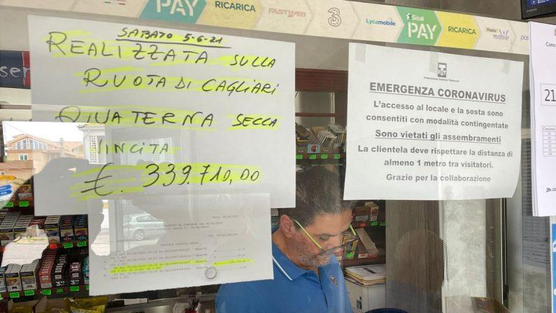 Lotto, quaterna nel Cosentino: vinti 339 mila euro