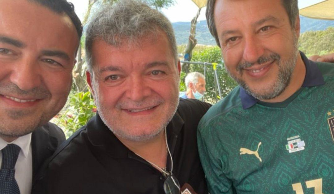 Cataldo Calabretta insieme a Matteo Salvini e a Nino Spirlì