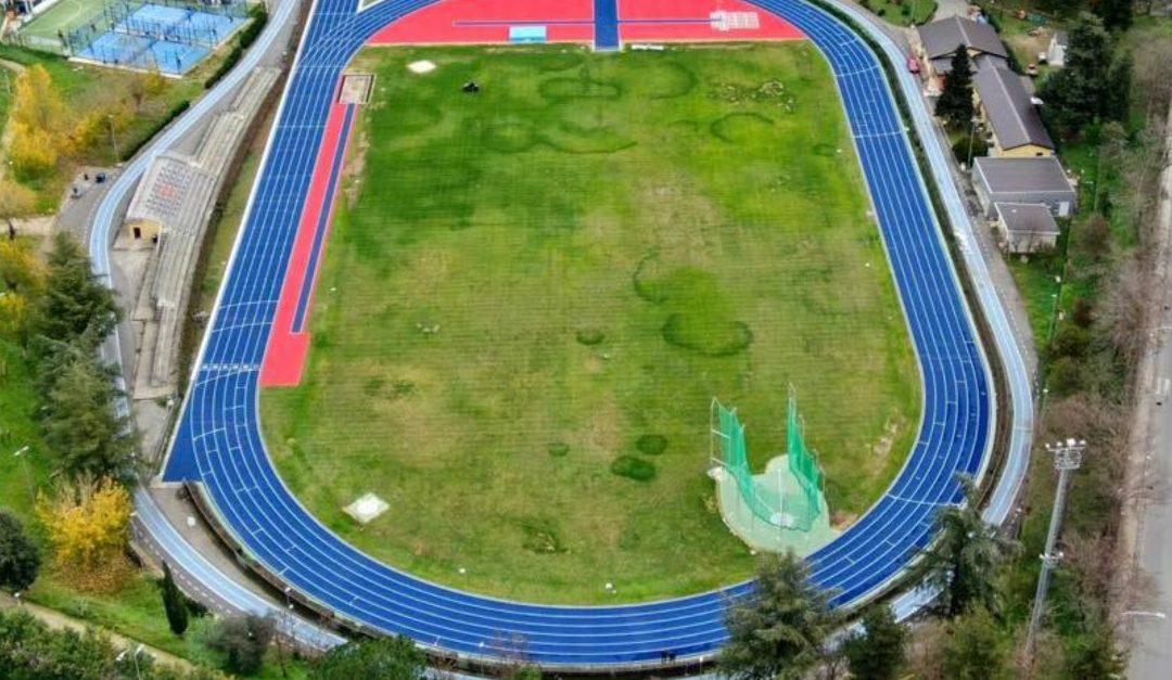 Il nuovo campo scuola Coni visto dall'alto