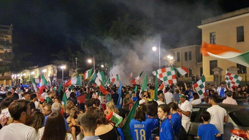 Euro 2020, a Vibo il trionfo all'Europeo si conclude in una apoteosi di tifosi