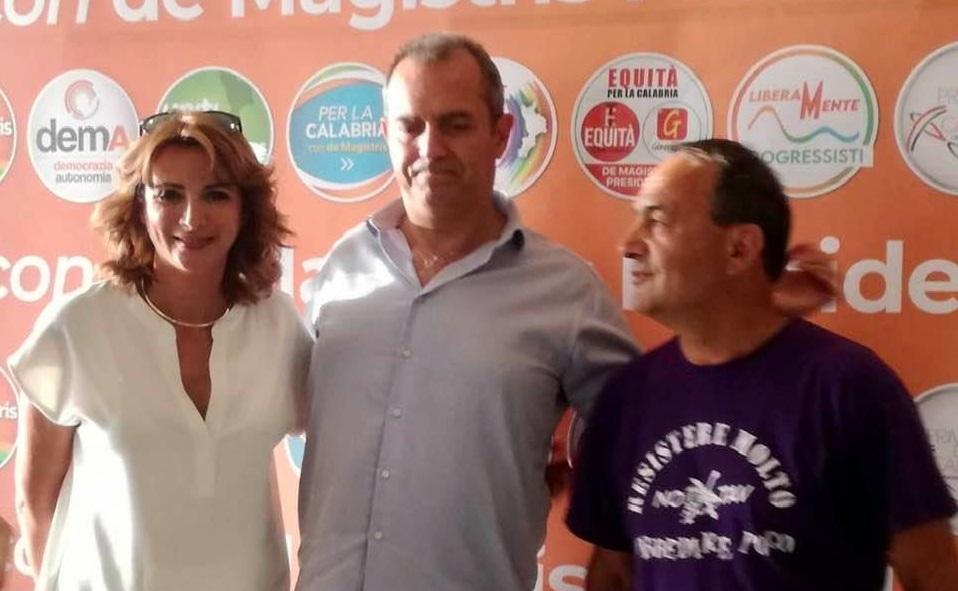 La presentazione della coalizione di de Magistris con Falcone e Lucano
