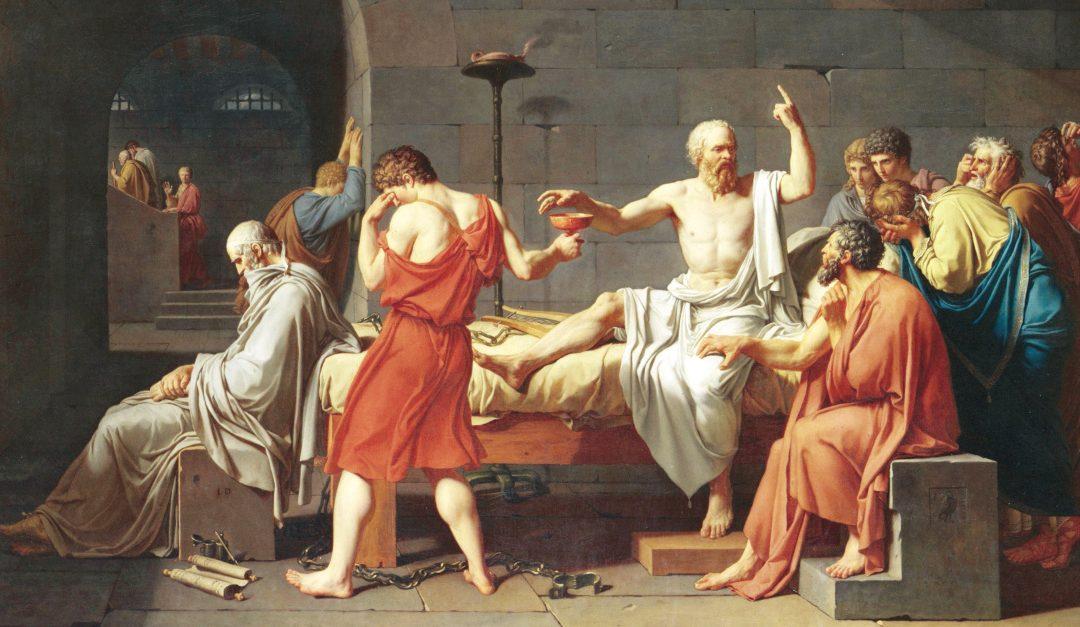 """""""La morte di Socrate"""" di Jacques-Louis David, 1787"""