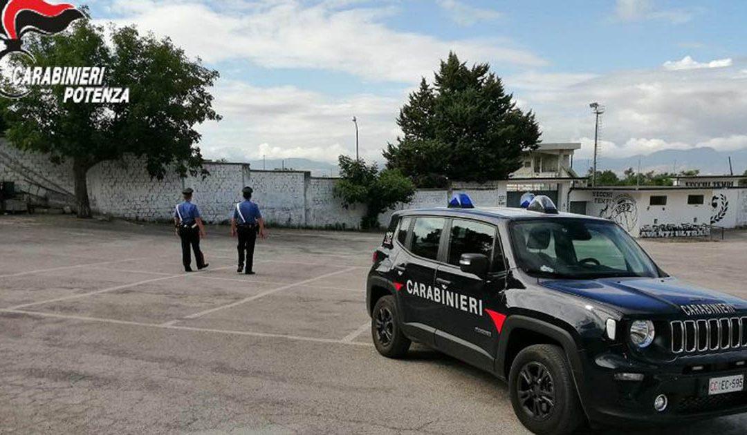 I carabinieri sul luogo del ritrovamento