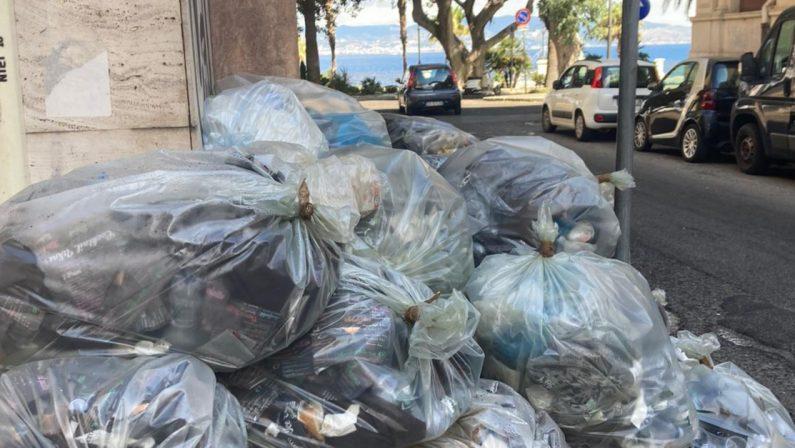 La foto: Reggio vista spazzatura sul chilometro più bello d'Italia