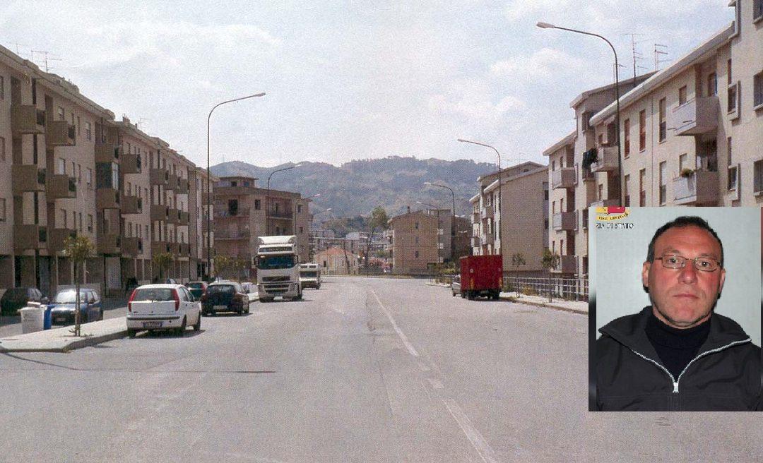 """Una panoramica di Archi, quartiere di Reggio Calabria e, nel riquadro, Giorgio Benestare, detto """"Franco"""""""