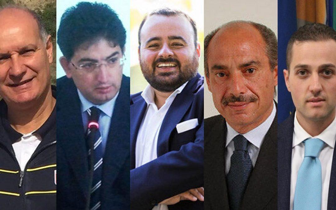 Da sinistra Comito, De Nisi, Pitaro, Ranieli e Tassone