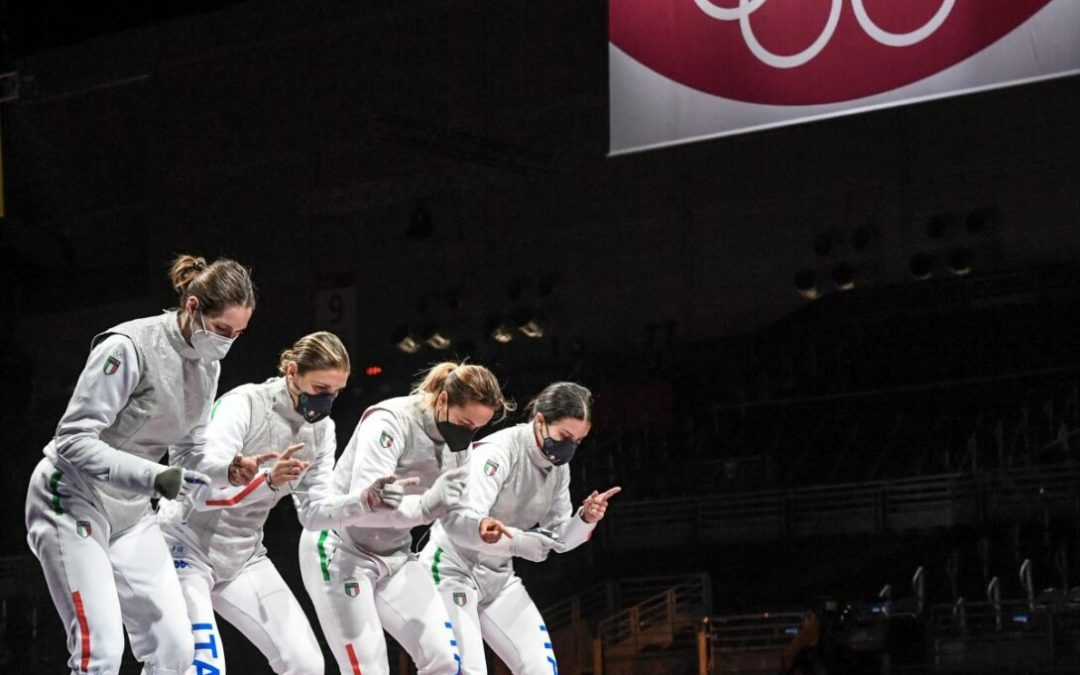 Bronzo Italia nel fioretto femminile a squadre