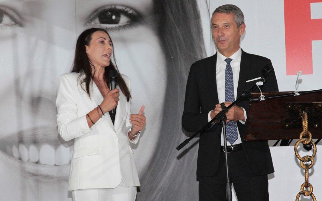 Flora Sculco e il presidente dell'Udc Antonio De Poli