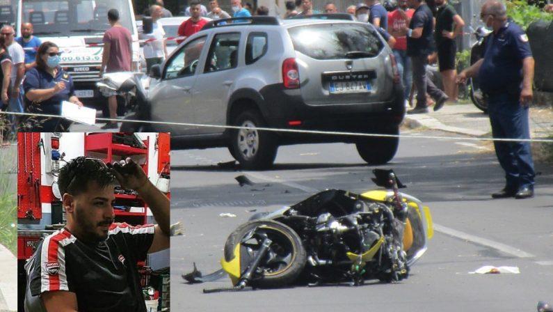Scontro tra auto e moto, muore un 29enne a Lamezia Terme
