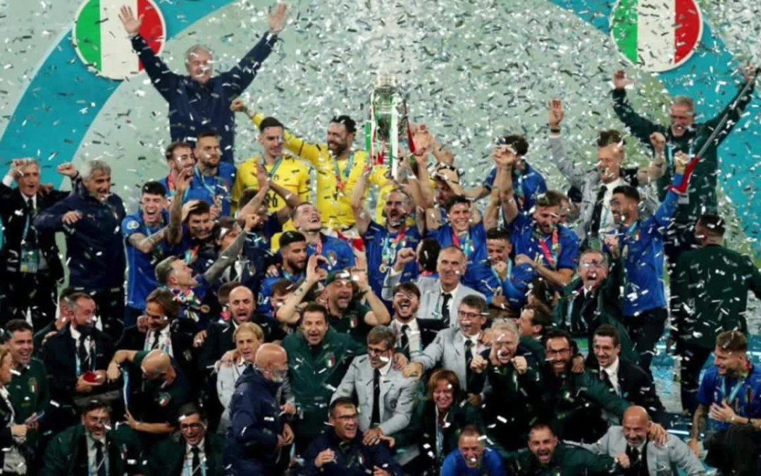La Nazionale campione d'Europa in festa