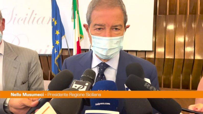 """Musumeci: """"La Sicilia sia al centro delle politiche economiche Usa e Ue"""""""