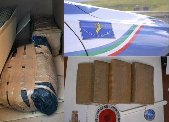 """Droga: due """"corrieri"""" arrestati a Lamezia, sequestrati 60 chili di cocaina"""