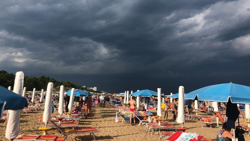 Maltempo nell'estate italiana: temporali e brusco calo delle temperature nel fine settimana