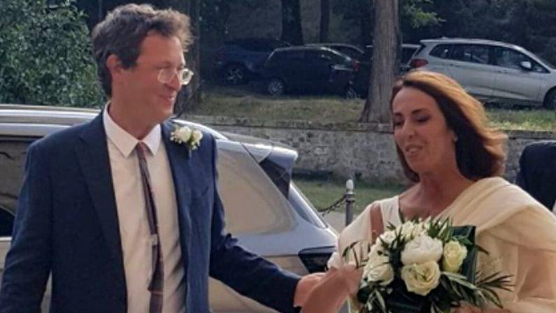 "Il ""Royal wedding"" di Alessandra Sardoni immortalato da Enrico Mentana"